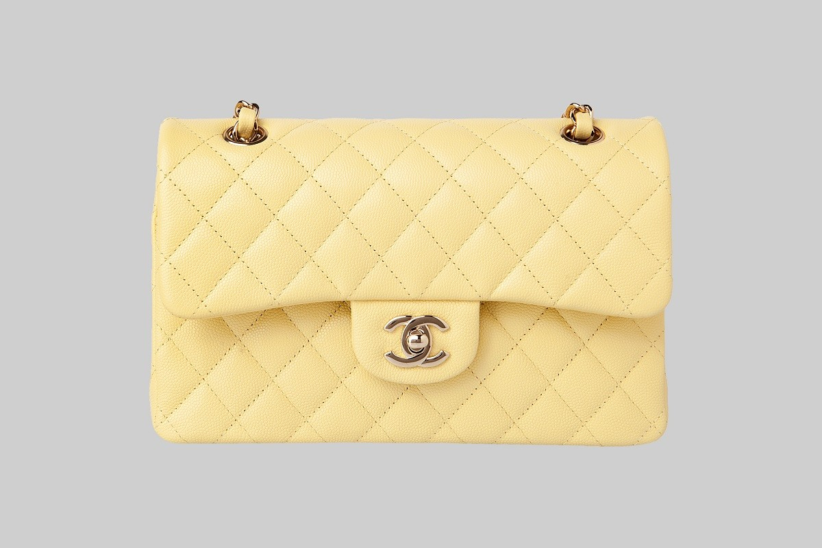 Yellow Timeless Classic flap bag LINEA PIU LUXURY ITEMS