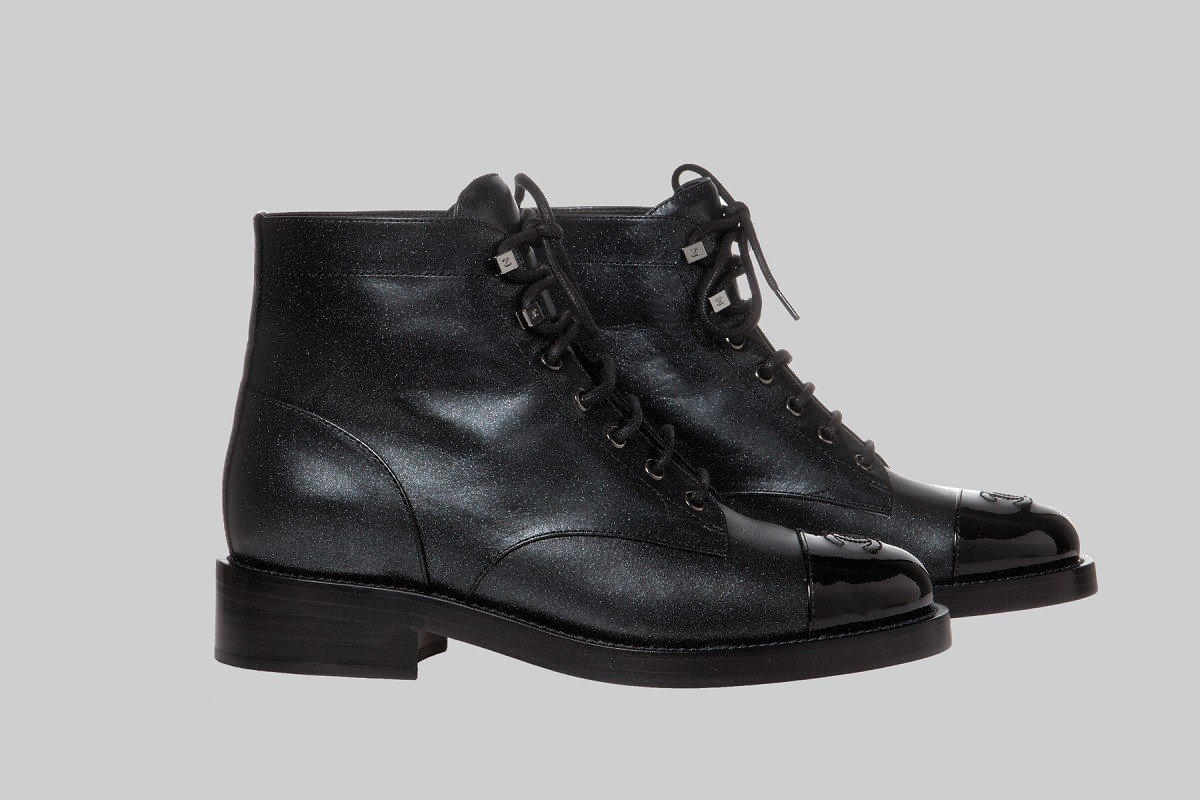Black lace up short boots LINEA PIU LUXURY ITEMS