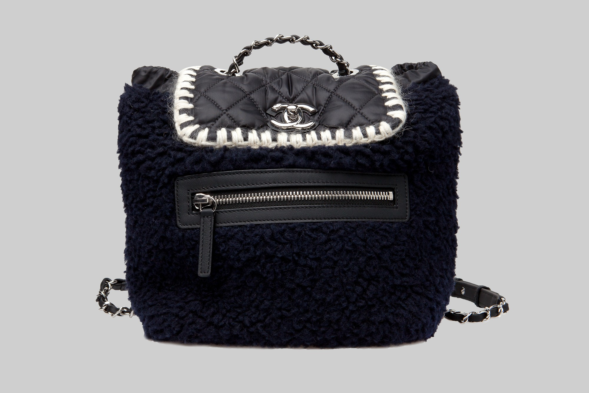 Black & navy backpack CHANEL LINEA PIU LUXURY ITEMS