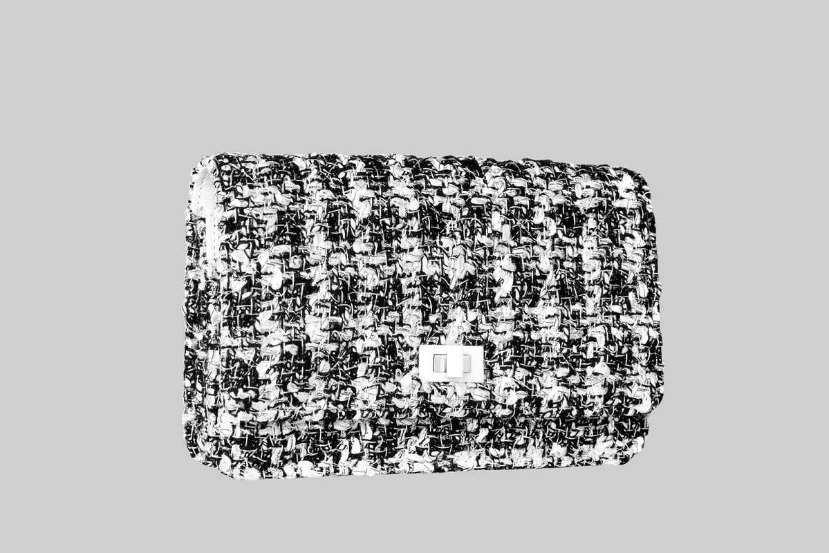 Mini sac tweed Timeless Classic noir et blanc-CHANEL-LINEA PIU-LUXURY ITEMS