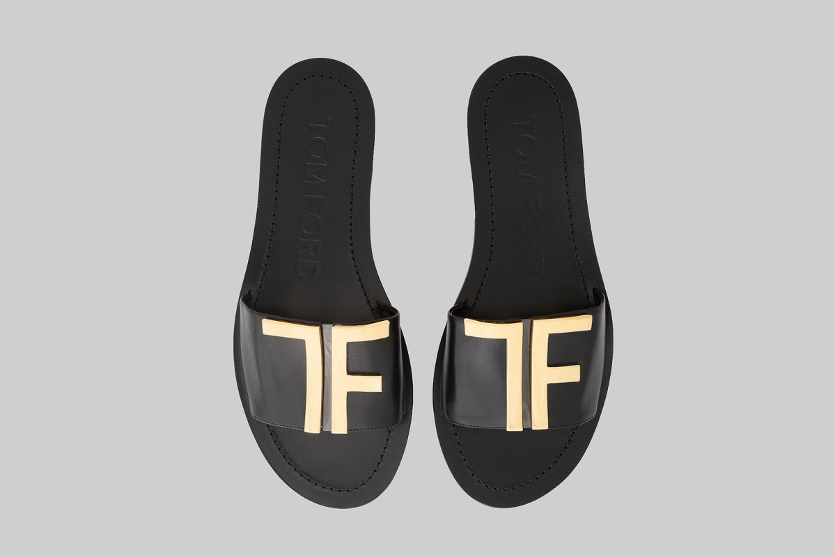 Mules noir & or-TOM FORD-LINEA PIU-LUXURY ITEMS