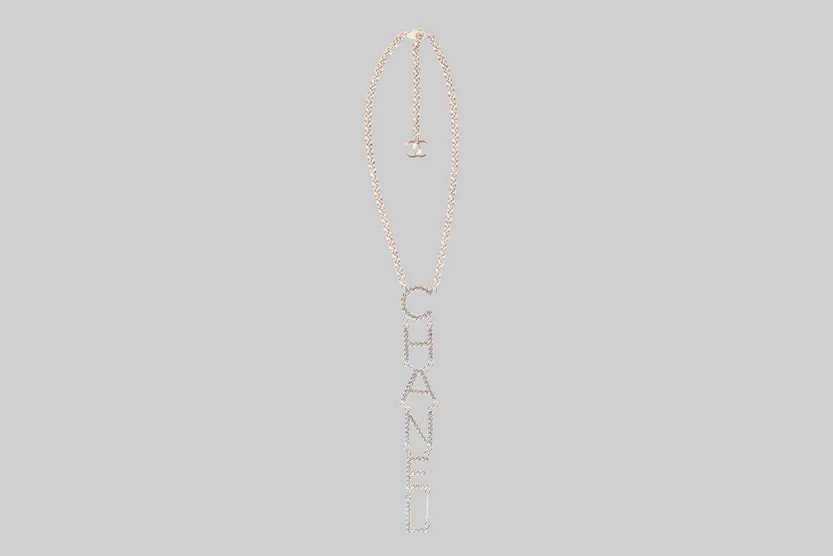 Collier pendentif en cristal doré-CHANEL-LINEA PIU-LUXURY ITEMS