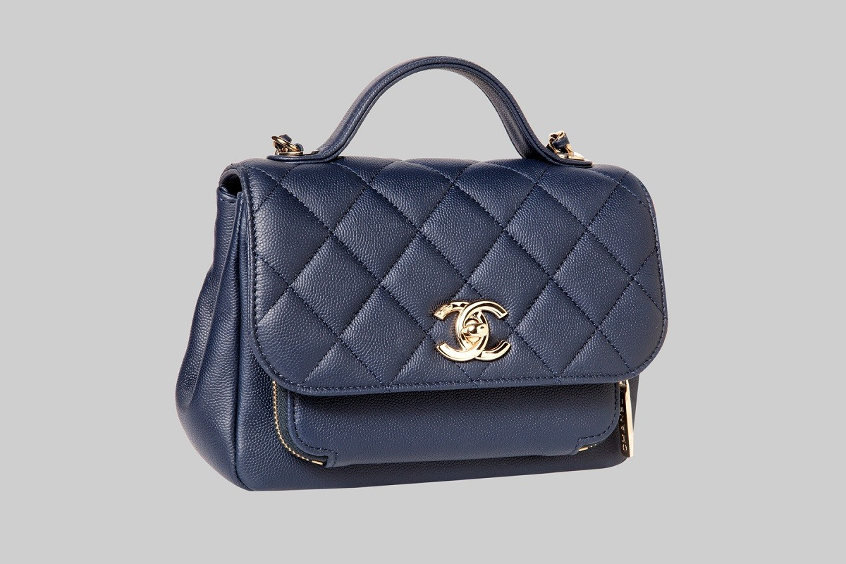 Sac à rabat bleu marine LINEA PIU LUXURY ITEMS