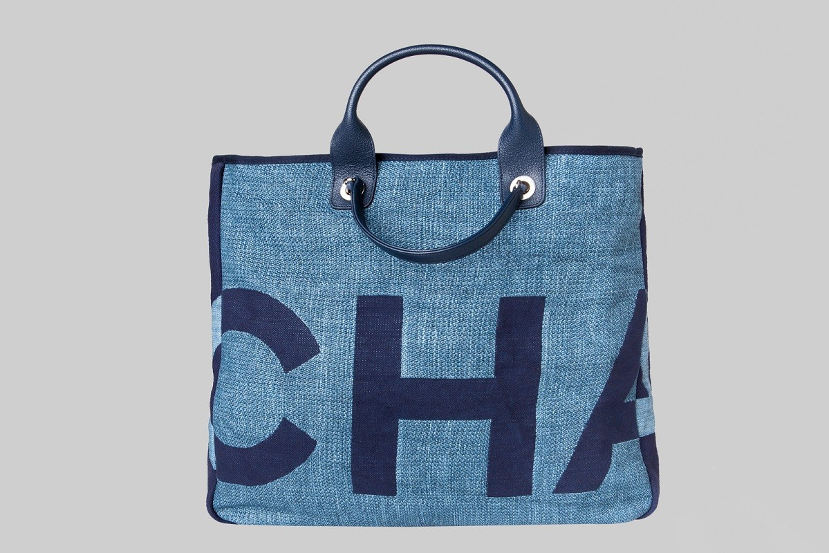 Sac shopping bleu LINEA PIU LUXURY ITEMS