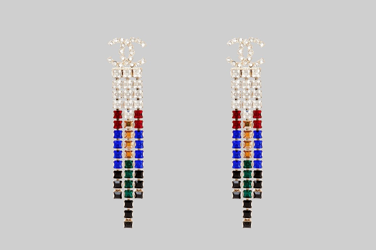 Boucles d'oreilles strass multicolores LINEA PIU LUXURY ITEMS