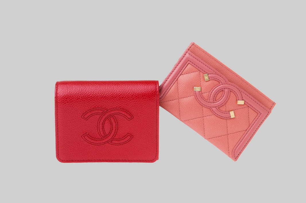 Porte carte rose & Petit portefeuille rouge LINEA PIU LUXURY ITEMS