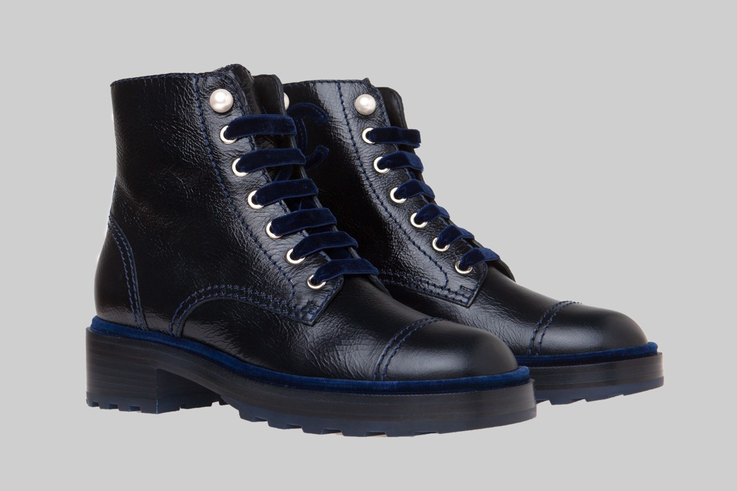 Bottines bleu marine LINEA PIU LUXURY ITEMS