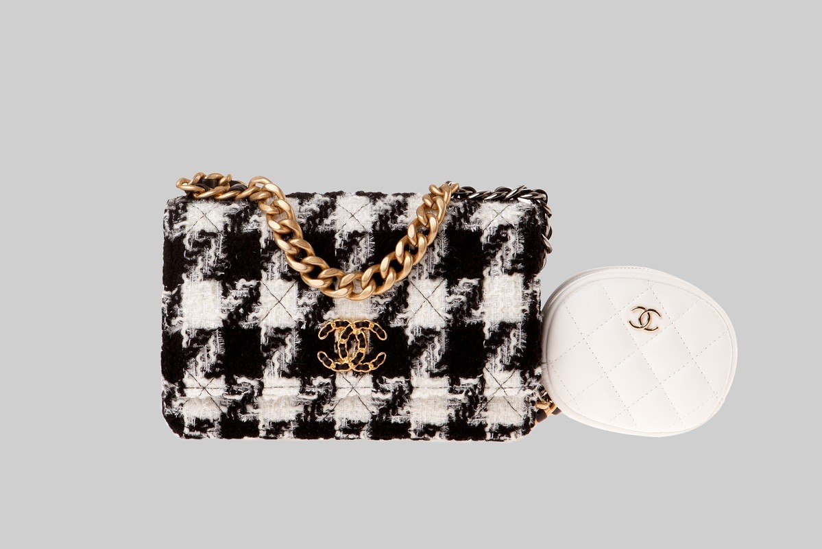 Mini sac blanc, beige et noir LINEA PIU LUXURY ITEMS