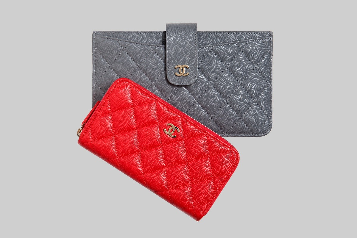 Red & Grey timeless classic wallets LINEA PIU LUXURY ITEMS